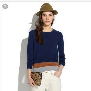 Madewell}• merino wool sweatshirt in color block
